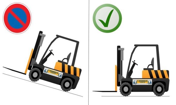forklift-parking-on-slope